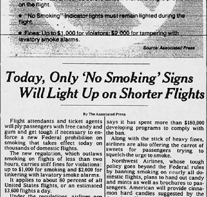 1988 04 23 NY Times Only No Smoking Signs on Shorter Flights 1 1