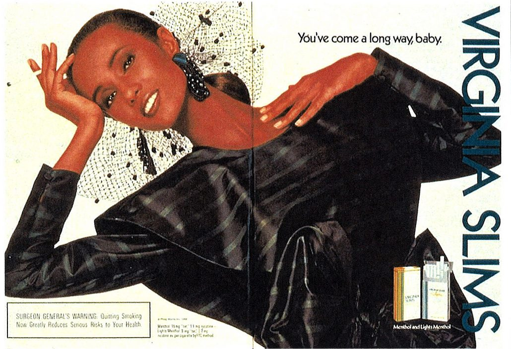 1988 Iman for Virginia Slims