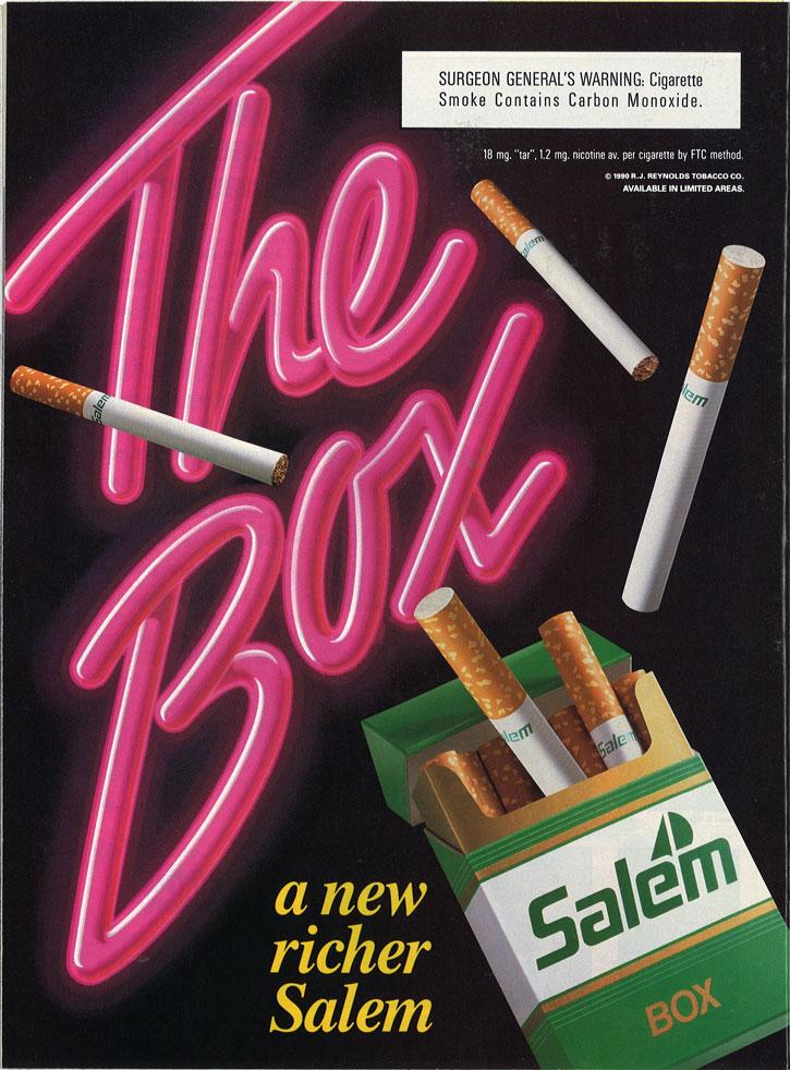 1990 05 28 Sports Illus Salem Ad The Box