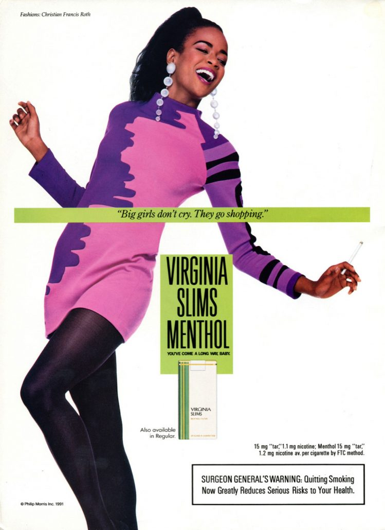 1991 11 Ebony Virginia Slims Ad Big Girls Dont Cry
