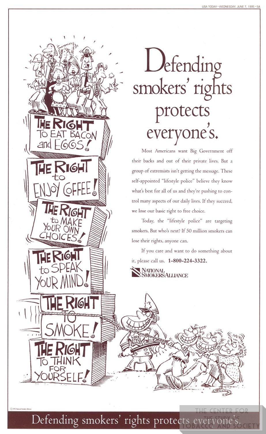 1995 06 07 USA Today Natl Smokers Alliance Ad 1