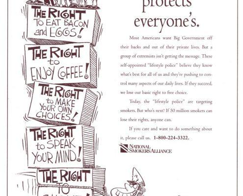 1995 06 07 USA Today Natl Smokers Alliance Ad
