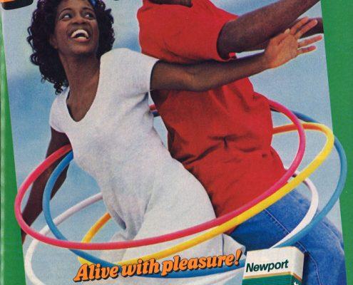 1995 07 Ebony Newport Ad Hula Hooping Couple 1