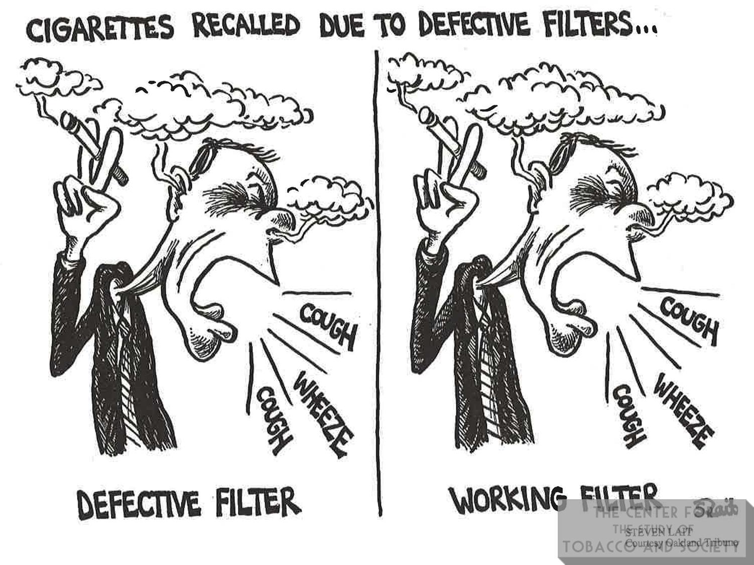 1996 Steven Lait Cigarettes Recalled Due to Defective Filters