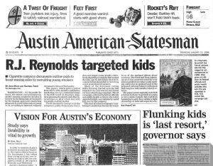1998 01 15 Austin American Statesman RJR Targeted Kids 1