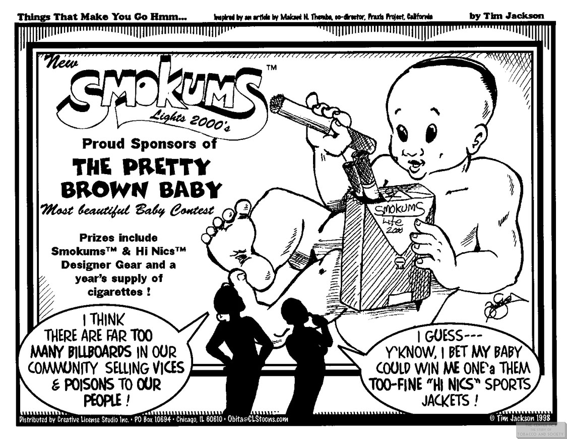1998 Jackson Cartoon Sponsors of Pretty Brown Baby Contest 1