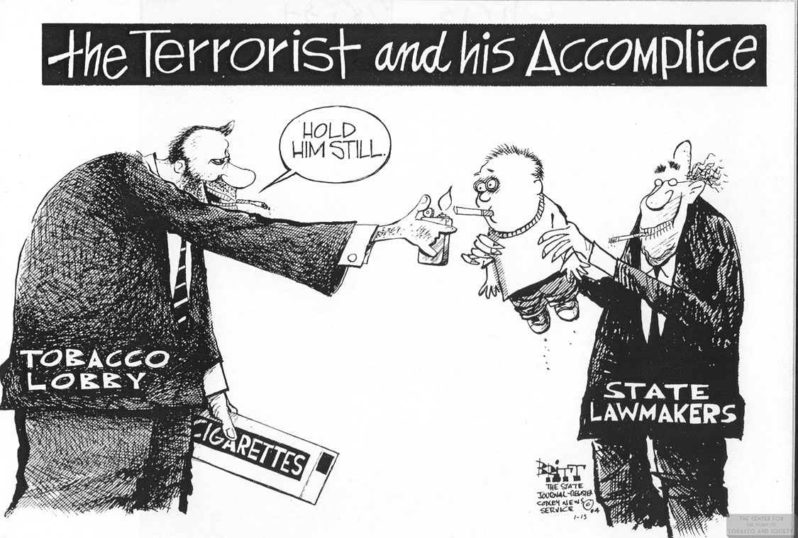 2004 Britt Cartoon Terrorist Accomplice 1