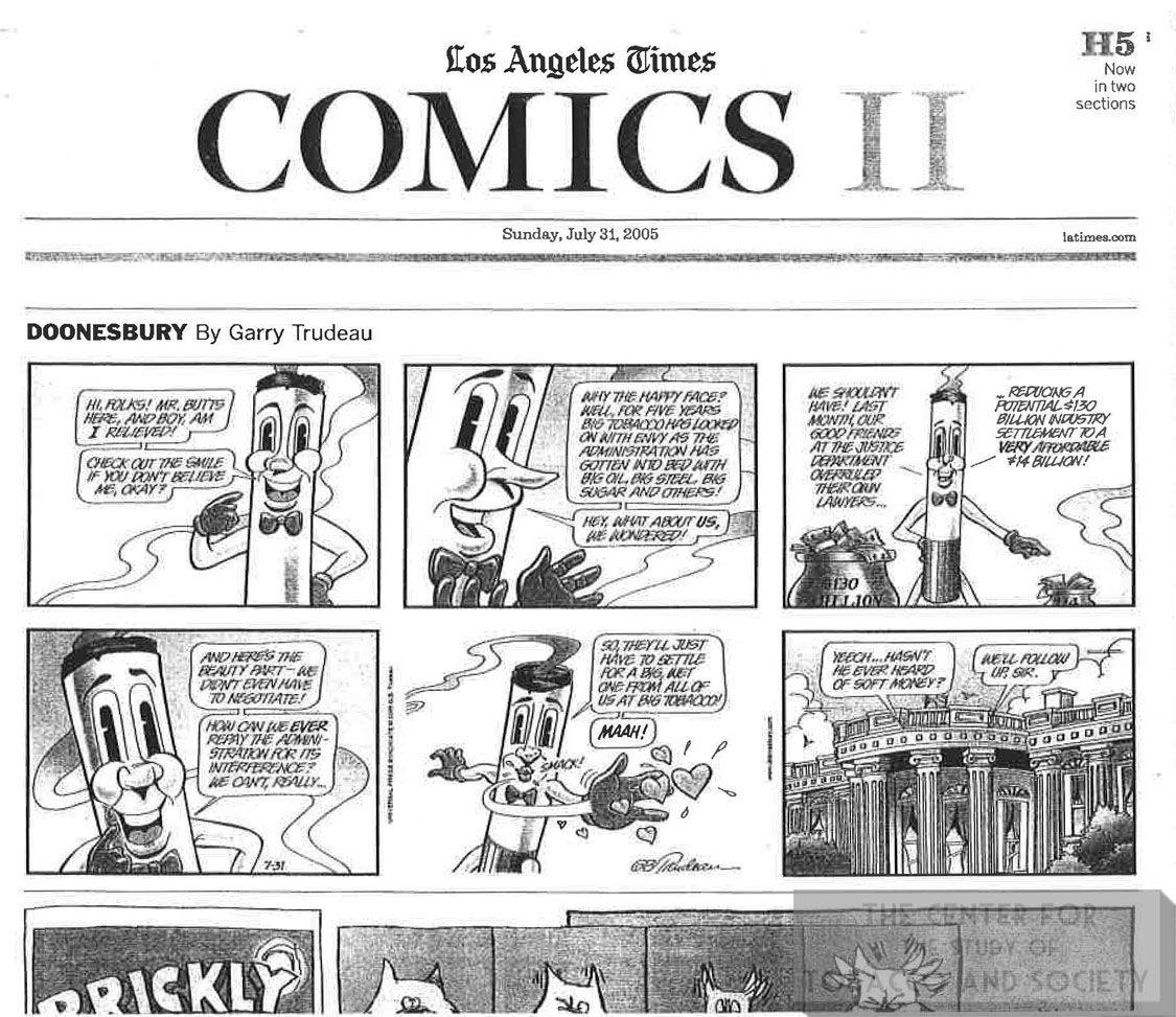 2005 07 31 LA Times Trudeau Cartoon Doonesbury 1