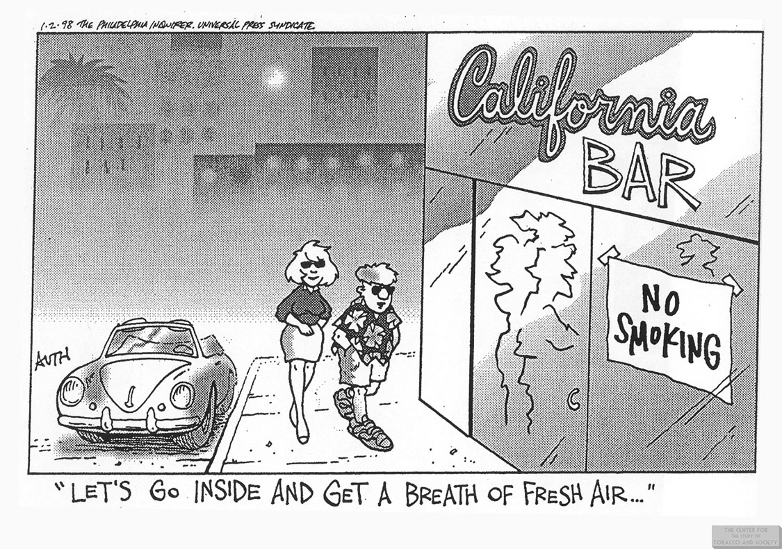 Auth Cartoon Breath of Fresh Air in Bar 1