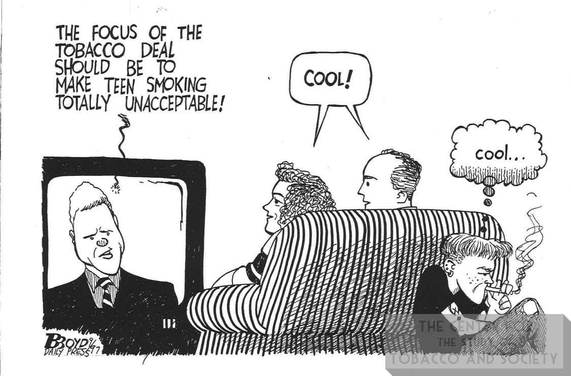 Boyd Cartoon Tobacco Deal Should Make Teen Smoking Unacceptable 1