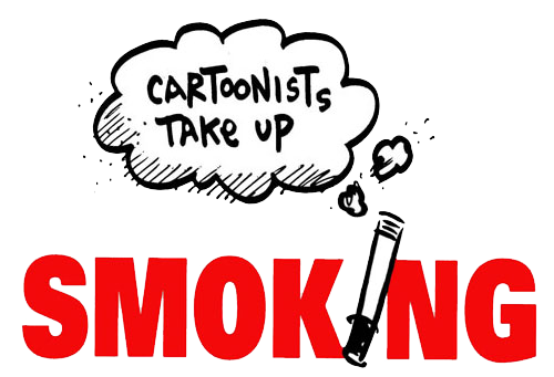 Cartoonists Take Up Smoking Logo Square