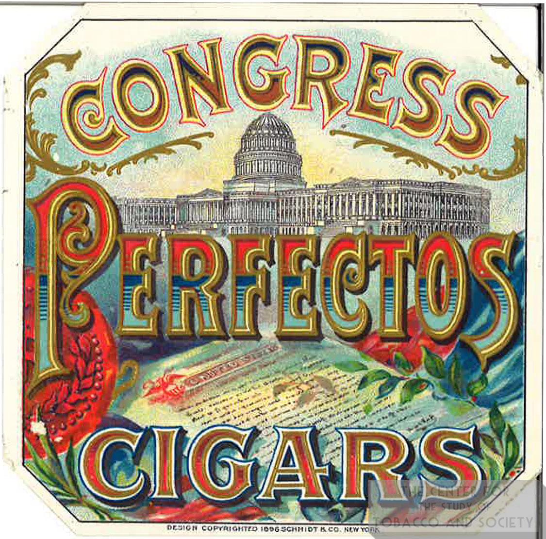 Cigar Box Label Congress Perfectos 1
