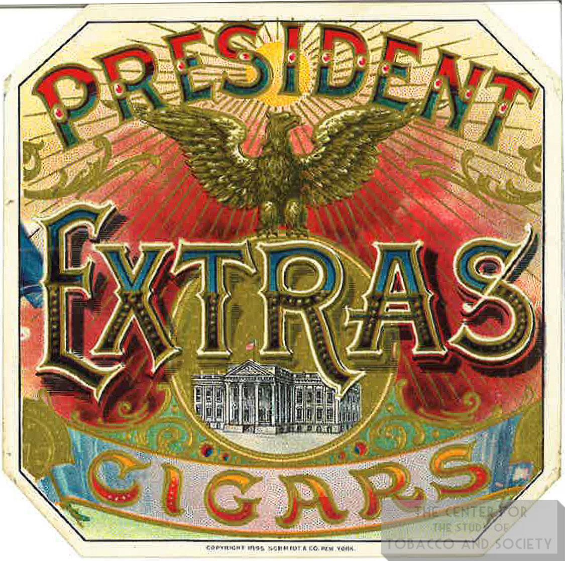 Cigar Box Label President Extras 1