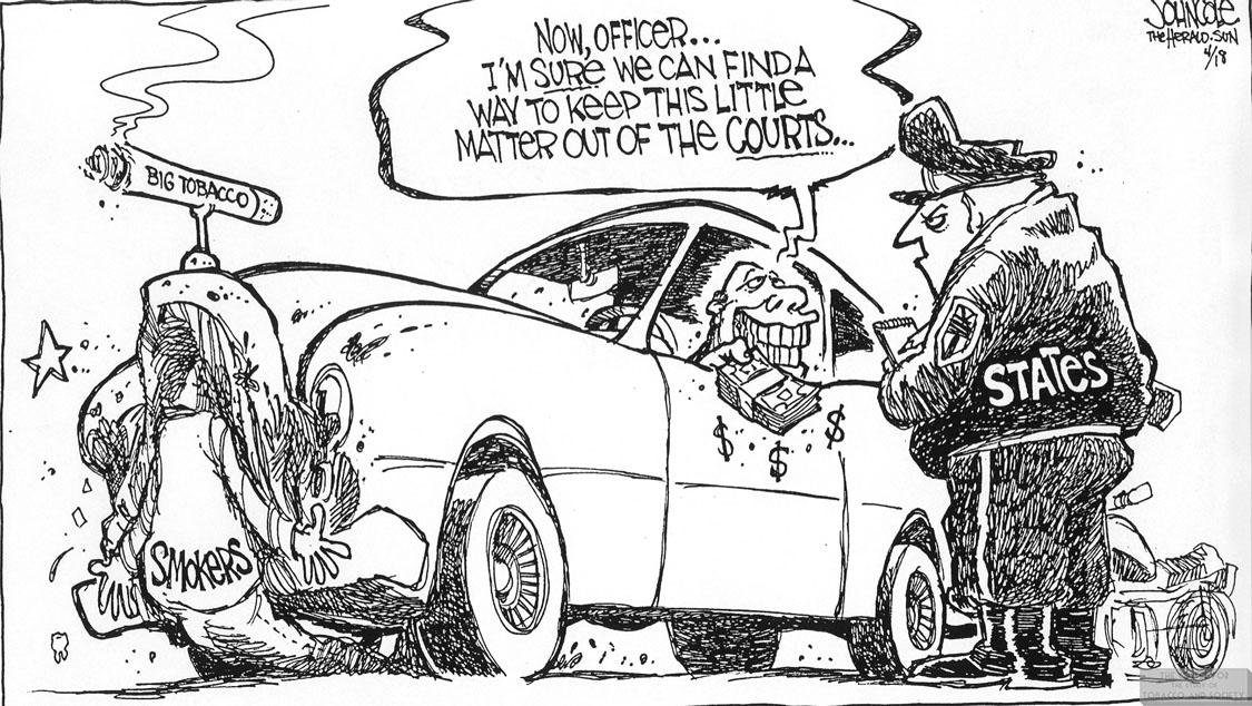 Cole Cartoon Car Wreck Settlement 1