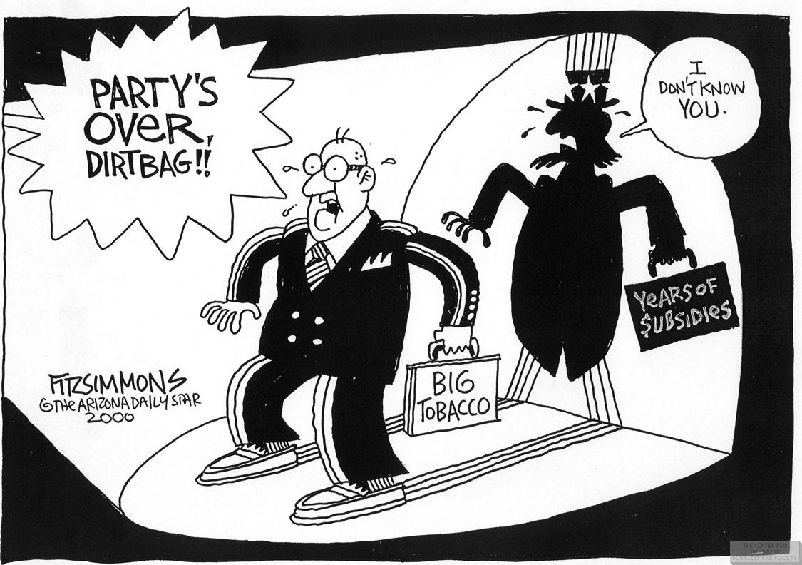 Fitzsimmons Cartoon Partys Over Dirtbag 1