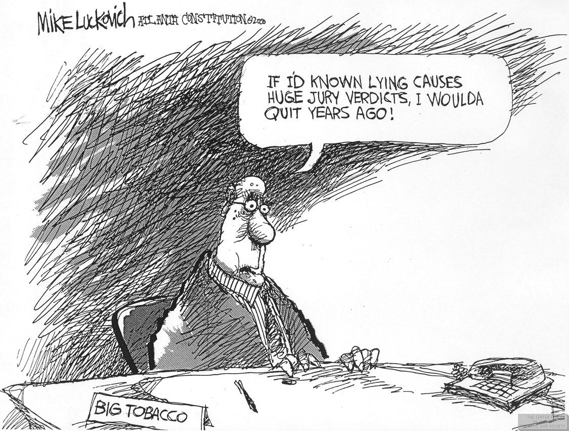 Luckovich Cartoon Lying Causes Huge Jury Verdicts 2