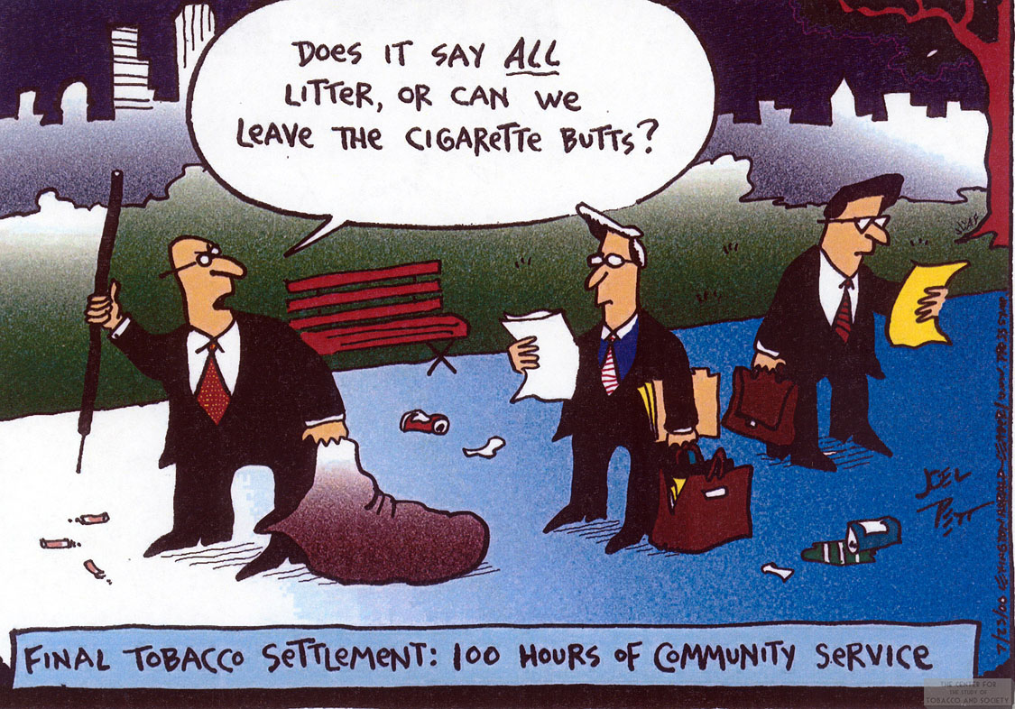 Pett Cartoon Tobacco Settlement Community Service 1