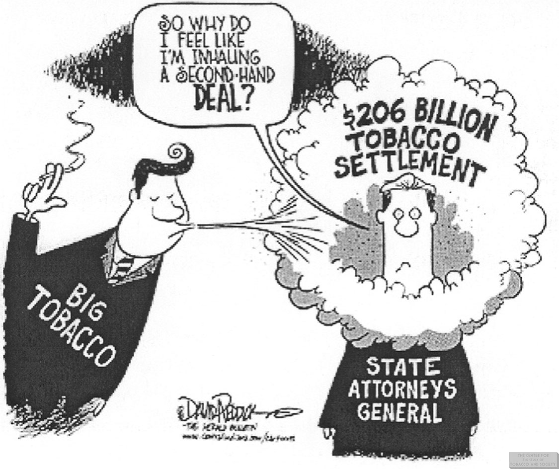 Reddick Cartoon 206 Billion Tobacco Settlement 1