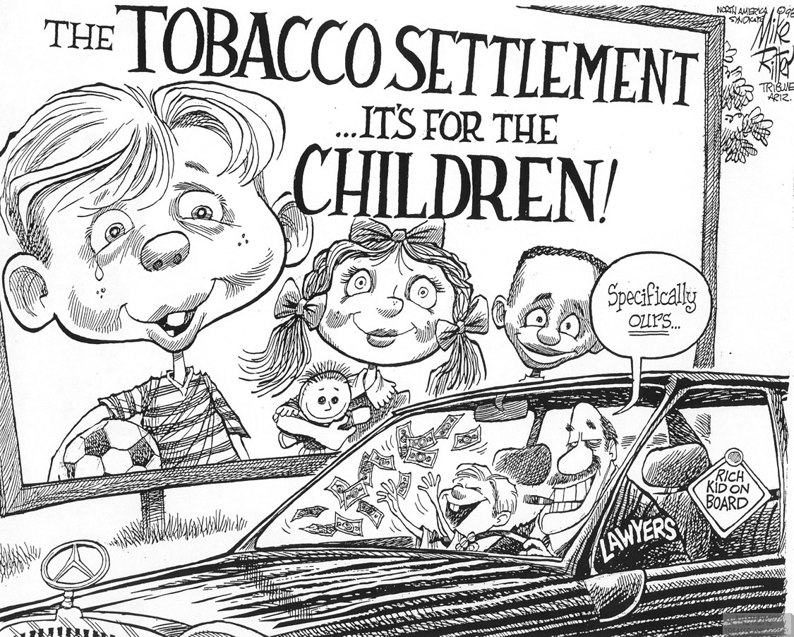 Ritter Cartoon Tobacco Settlement for Children 1