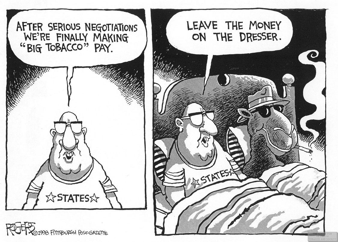 Rogers Cartoon States Joe Camel in Bed 1