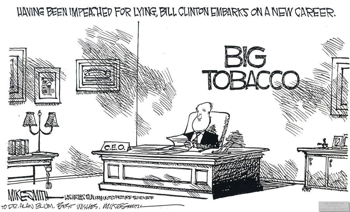 Smith Cartoon Clinton Big Tobacco CEO 1