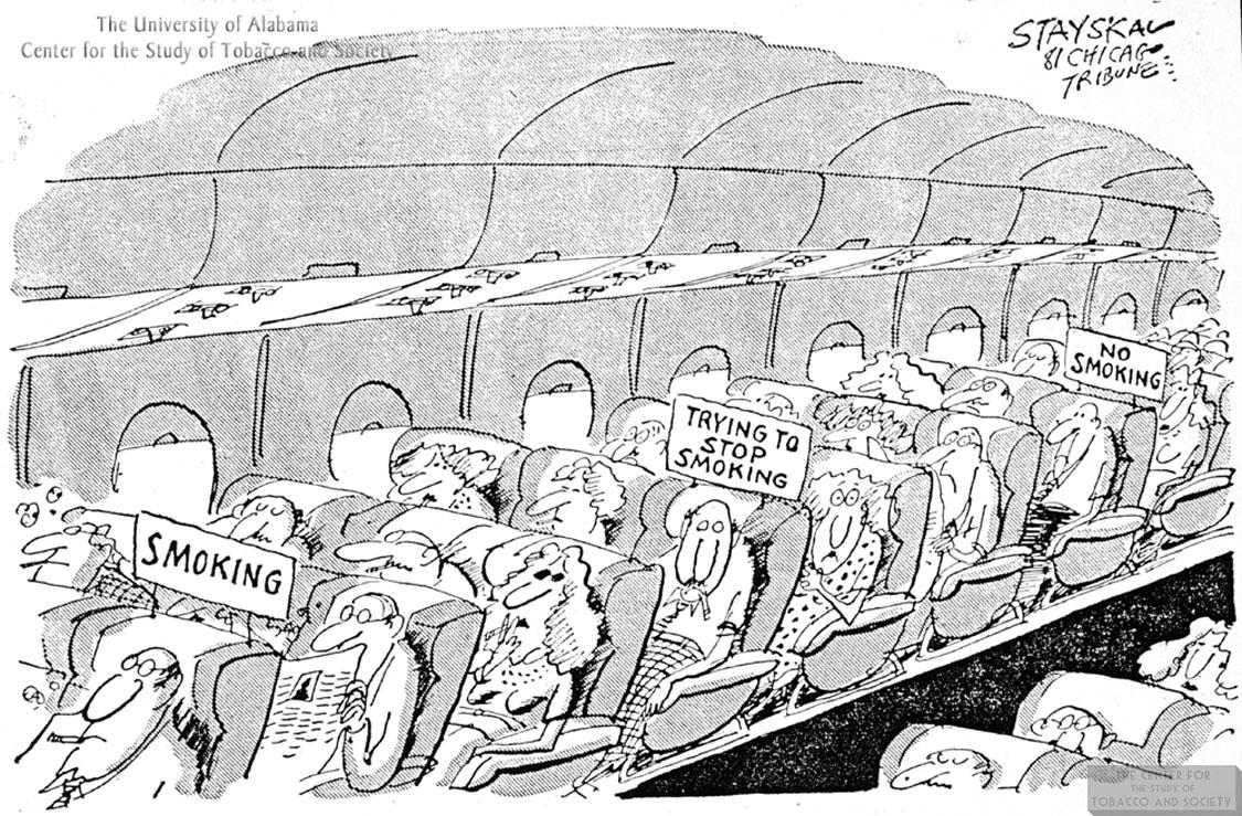 Stayskal Cartoon Airplane Smoking Sections 1