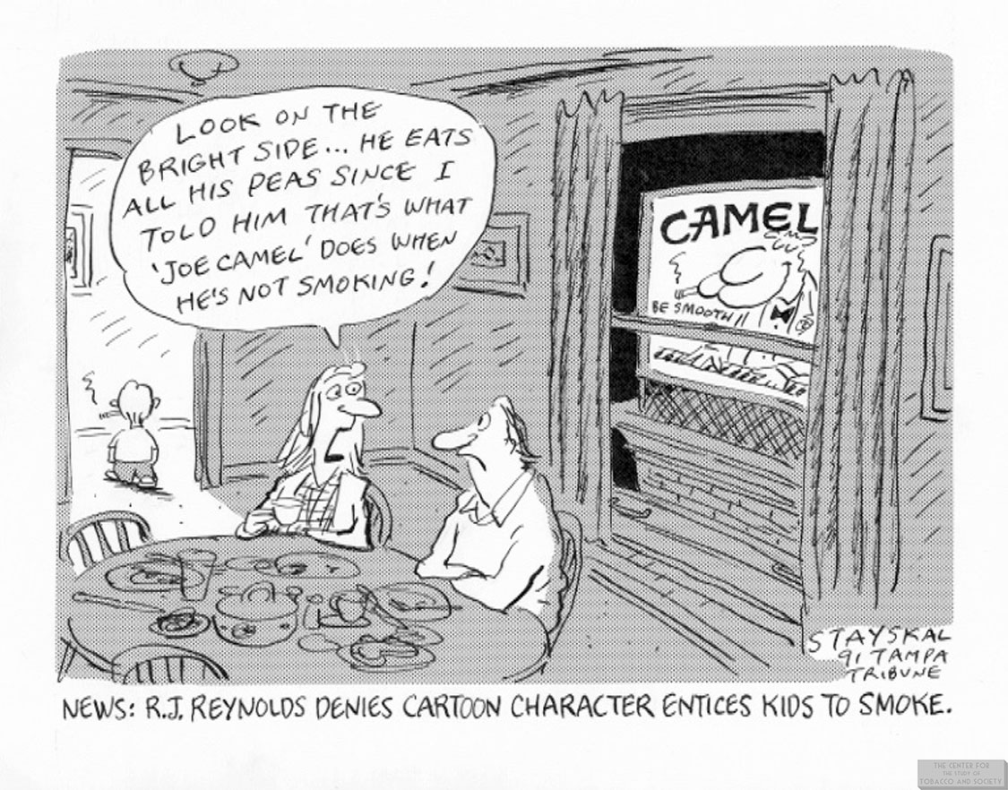 Stayskal Cartoon Joe Camel Entices Kids to Smoke 1