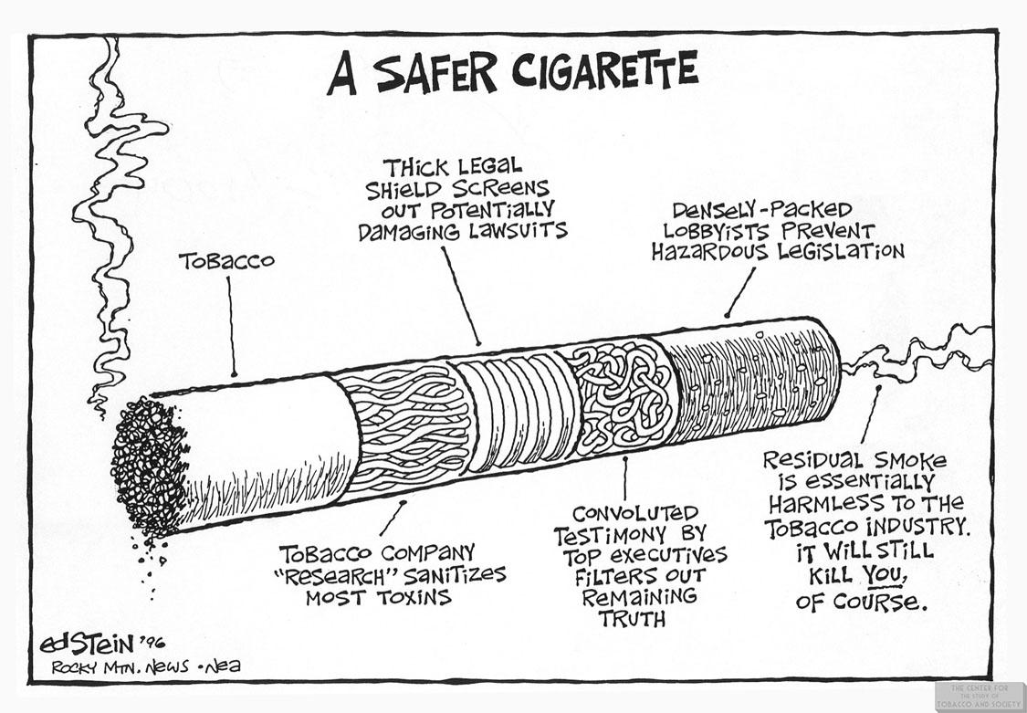 Stein Cartoon Safer Cig