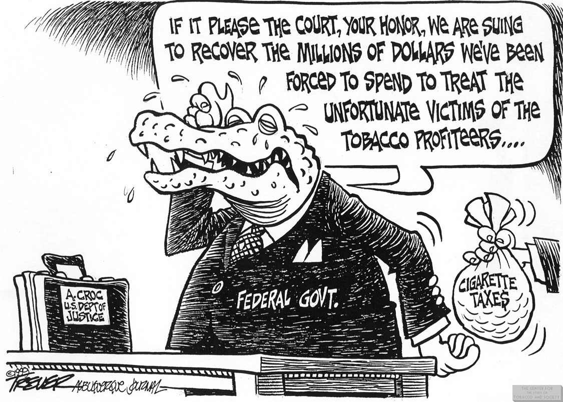 Trever Cartoon Dept. of Justice Crocodile 1