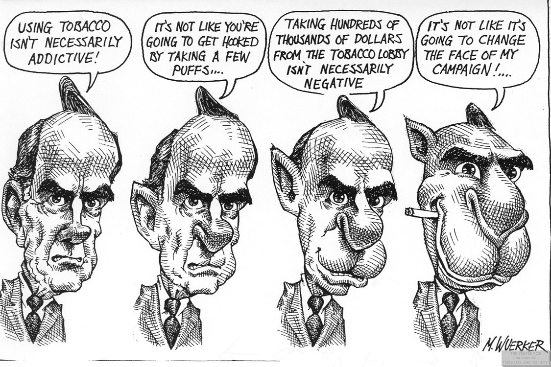 Wuerker Cartoon Bob Dole to Joe Camel 1