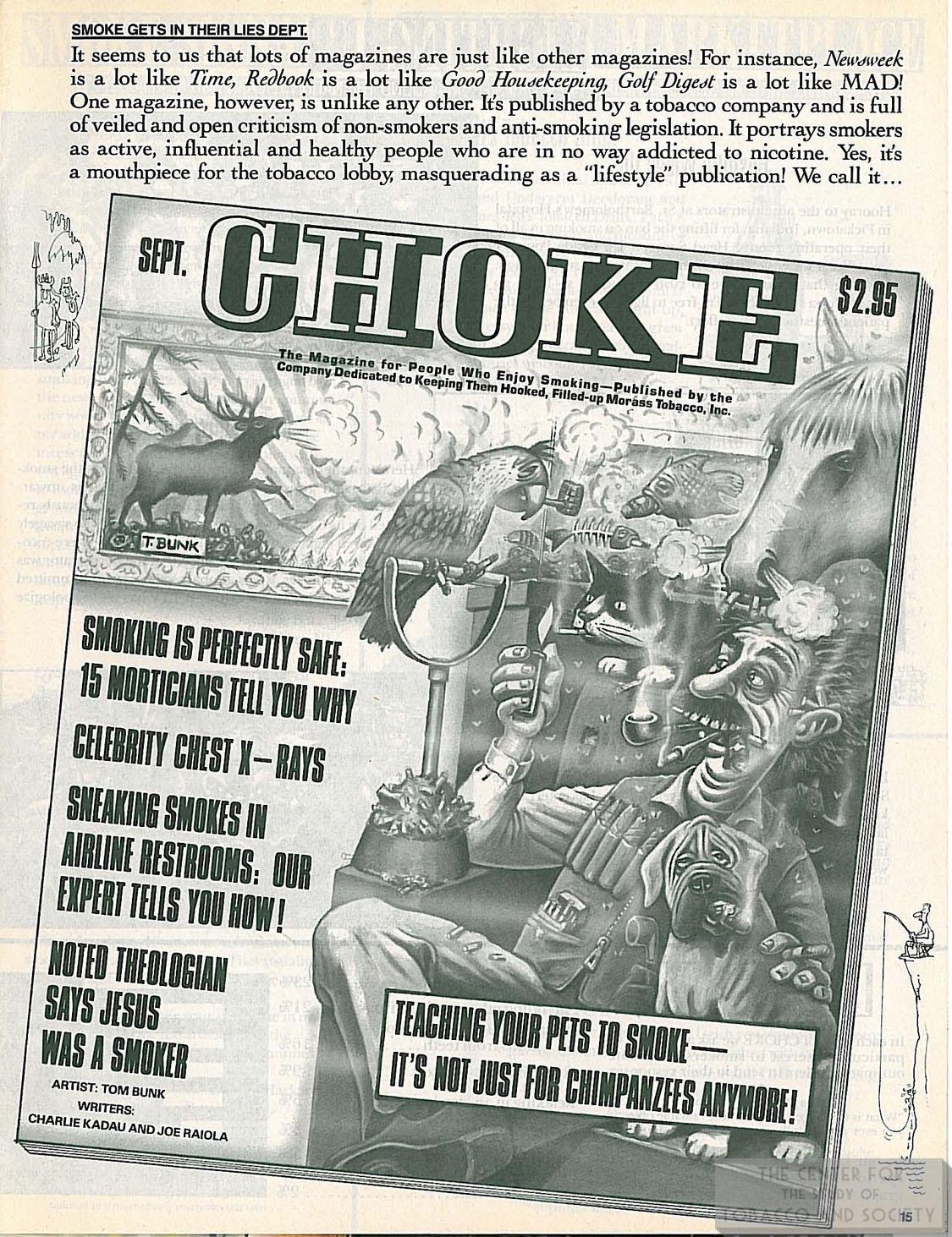n.d. Mad Magazine Smoke Mag. Ad Parody 1