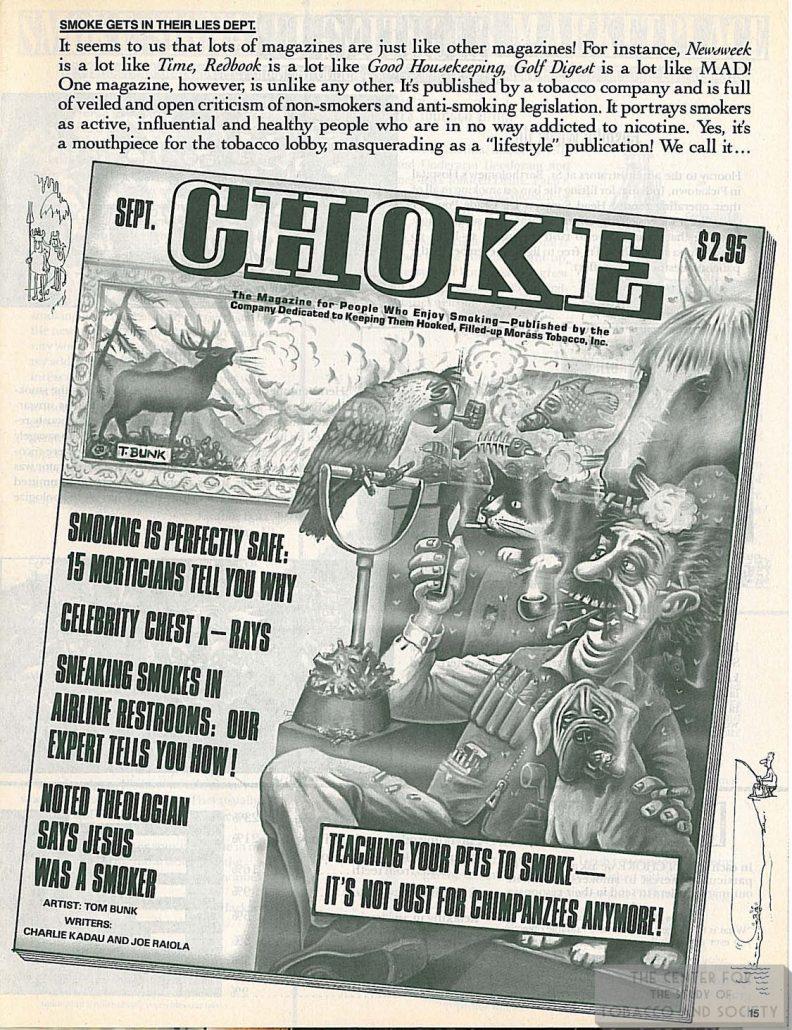 n.d. Mad Magazine Smoke Mag. Ad Parody