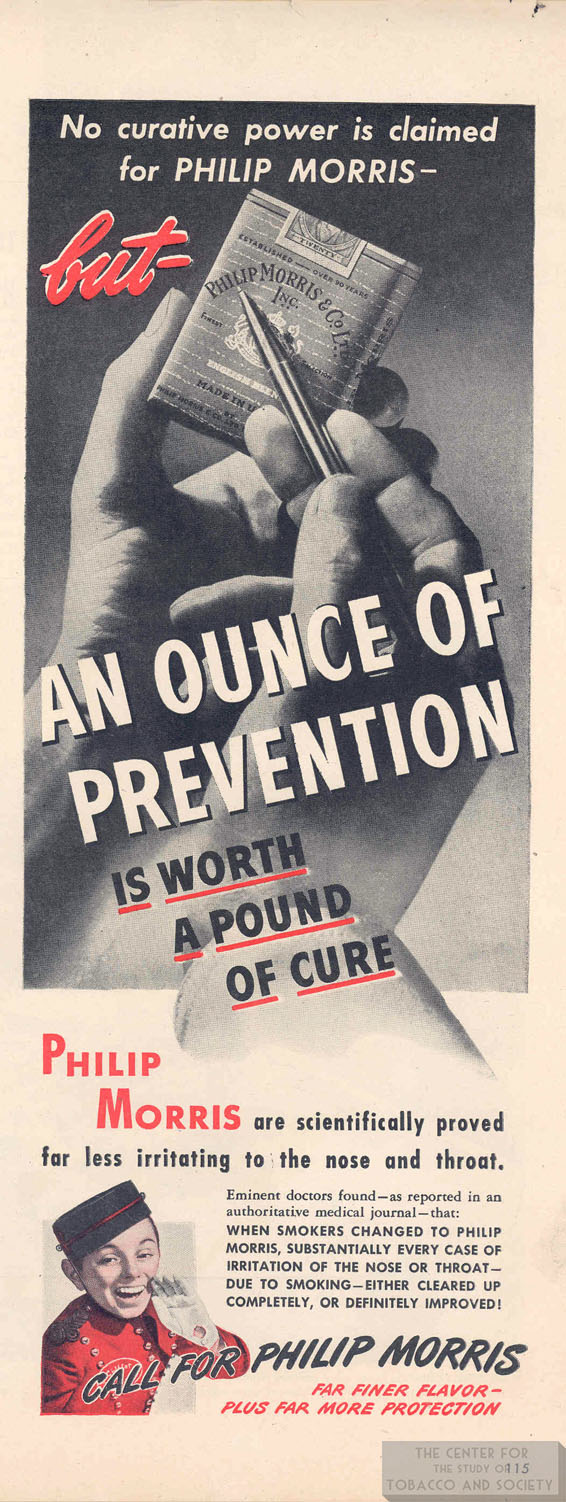 1940 PM Ad An Ounce of Prevention