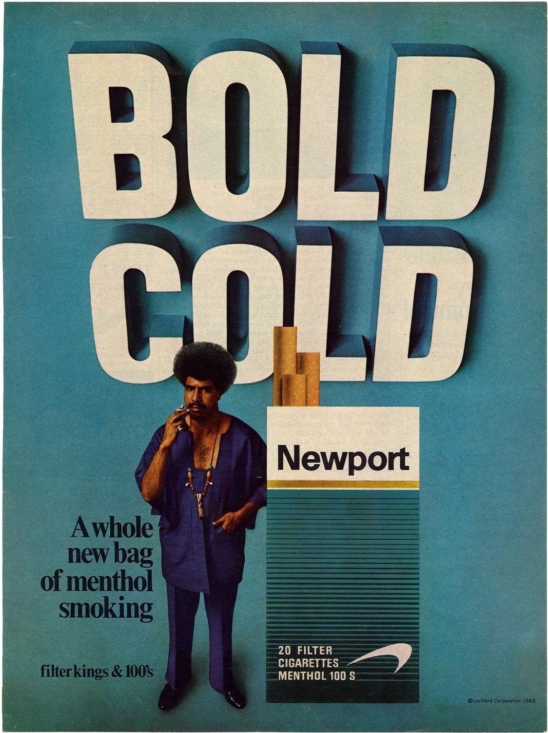 1968 Newport Ad Bold Cold