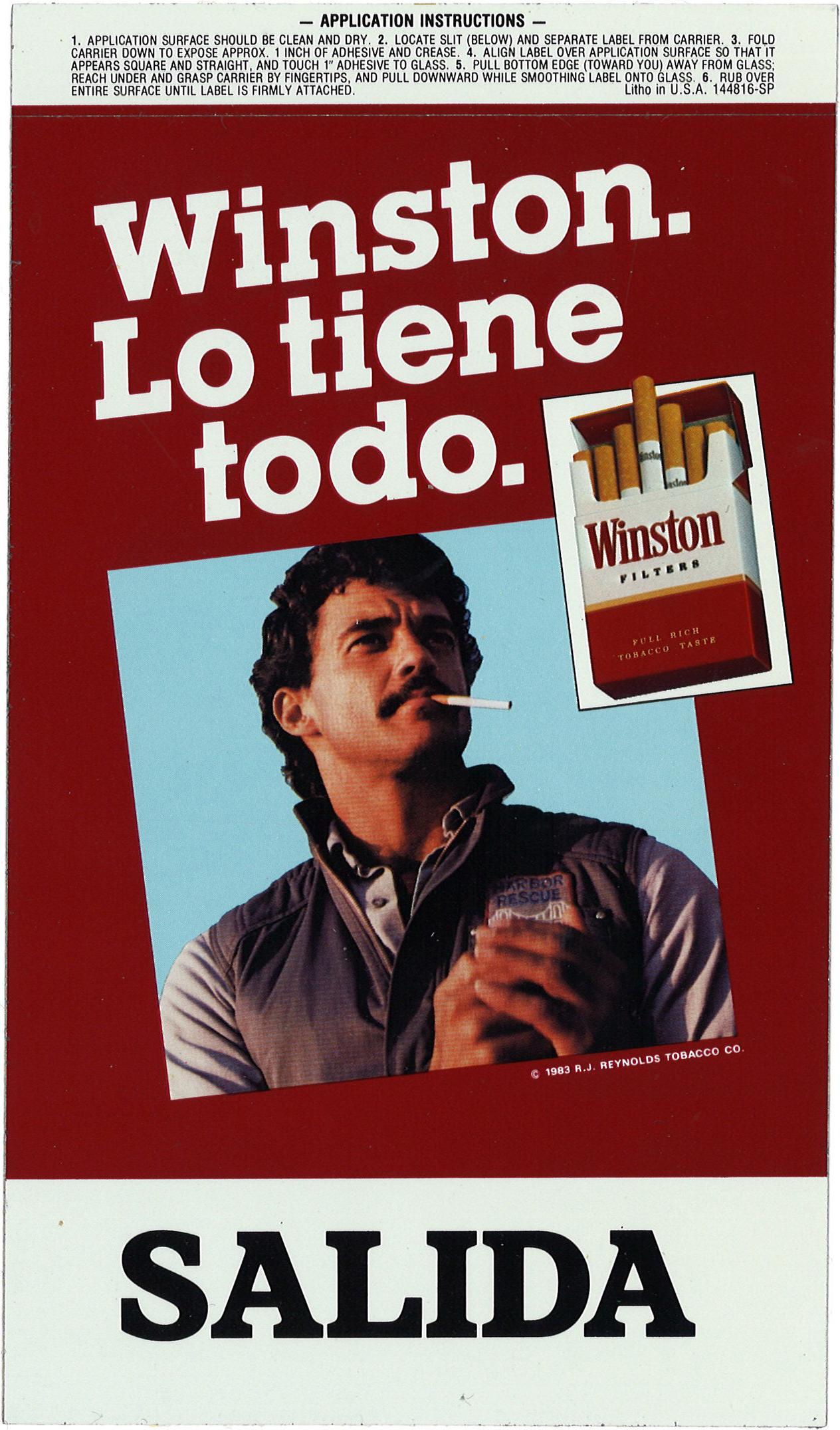 1983 Winston Ad Harbor Rescue Worker Spanish