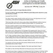 1998 12 03 ASH Press Release Dr Testifies Industry Targets Minorities Pg 1 1