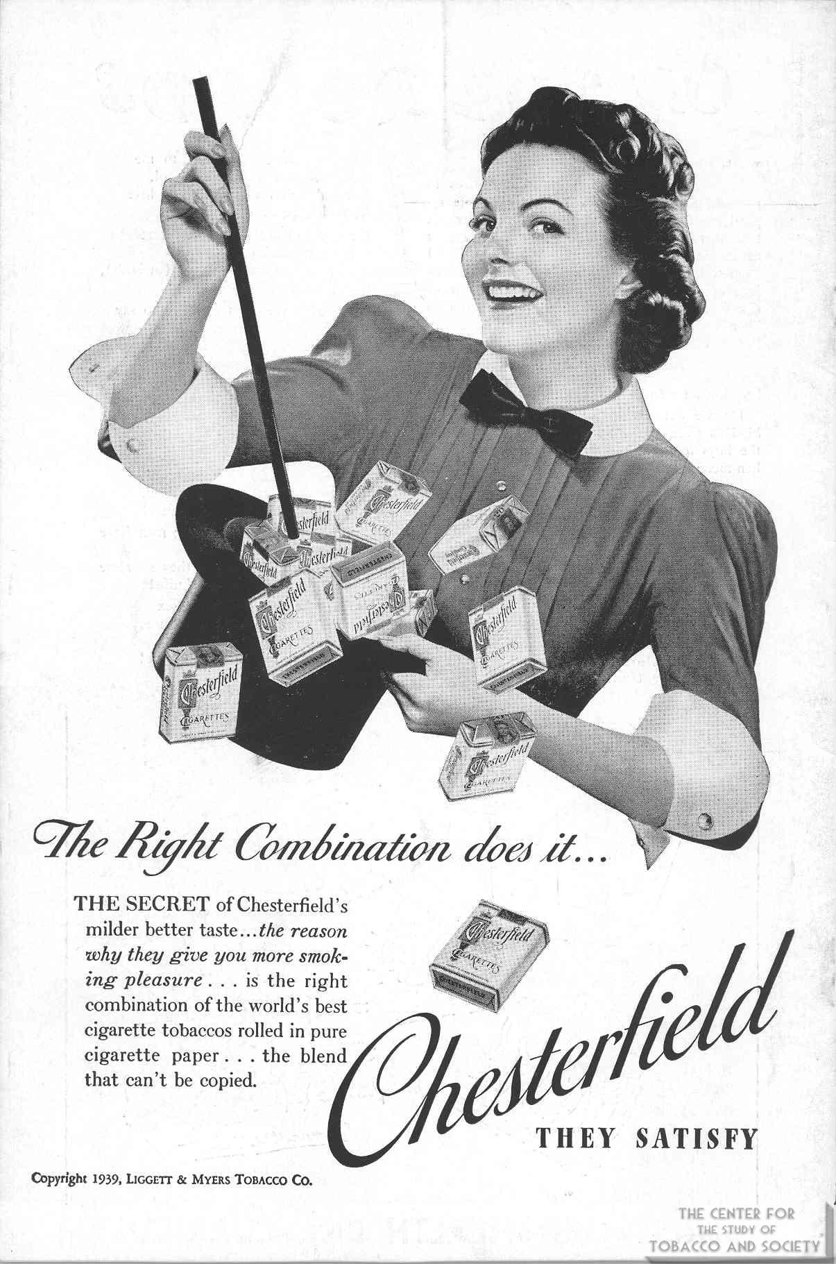 1939 04 JAMS V. 3 No 7 Chesterfield Ad