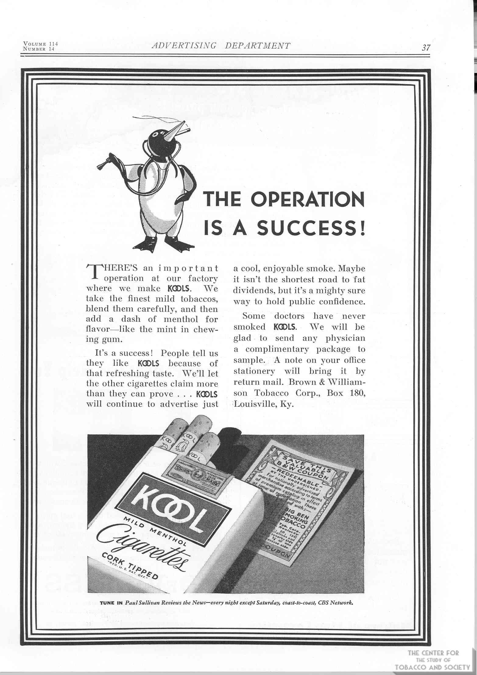 1940 04 04 JAMA V. 114 No 14 Kool Ad