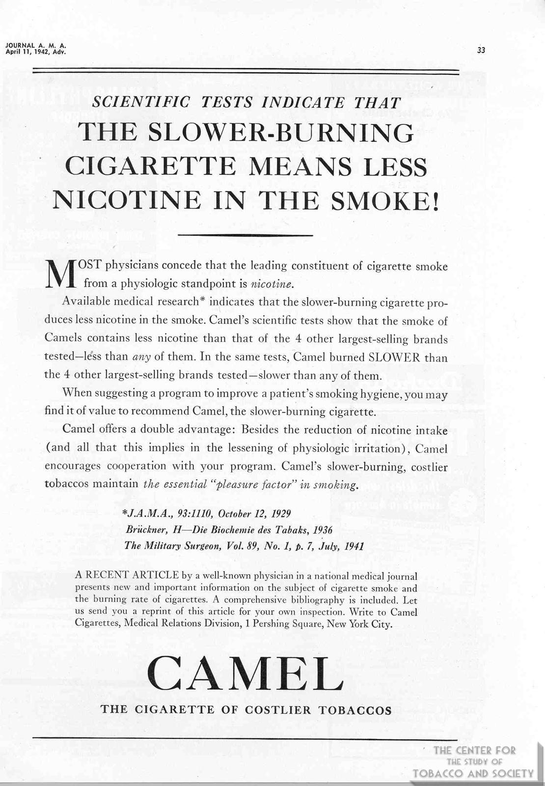 1942 04 11 JAMA Camel Ad