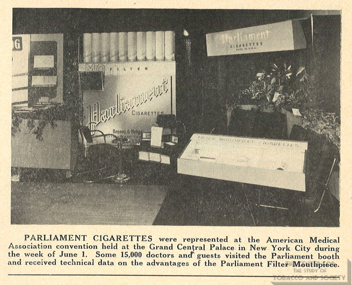 1953 06 20 Tobacco Leaf Parliament Booth at AMA Convention