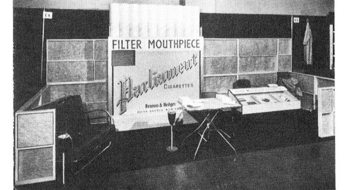 1953 12 26 Tobacco Leaf Parliament Booth at AMA Clinical Session