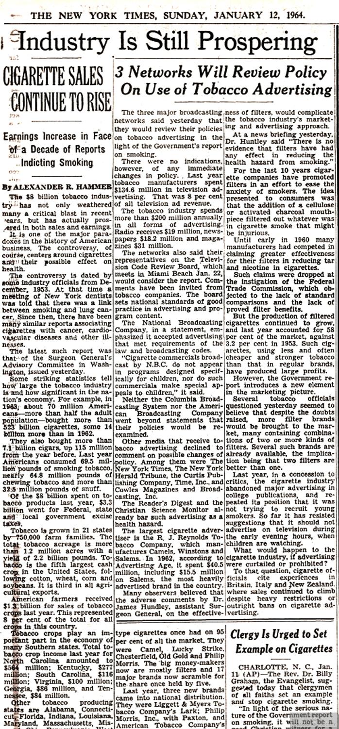 1964 01 12 NY Times Industry Still Prospering focus