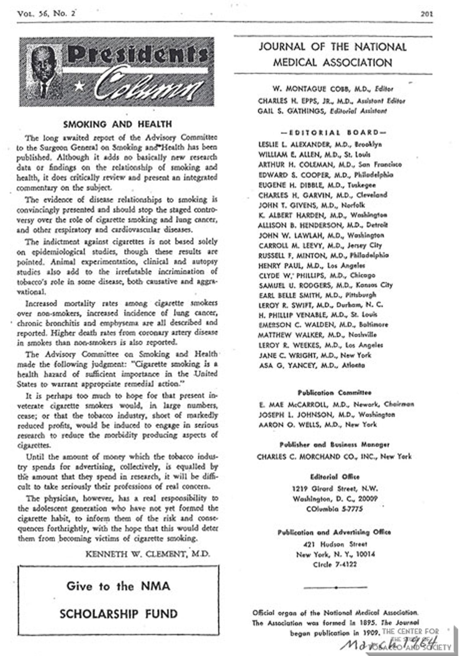 1964 03 JNMA Smoking Health copy