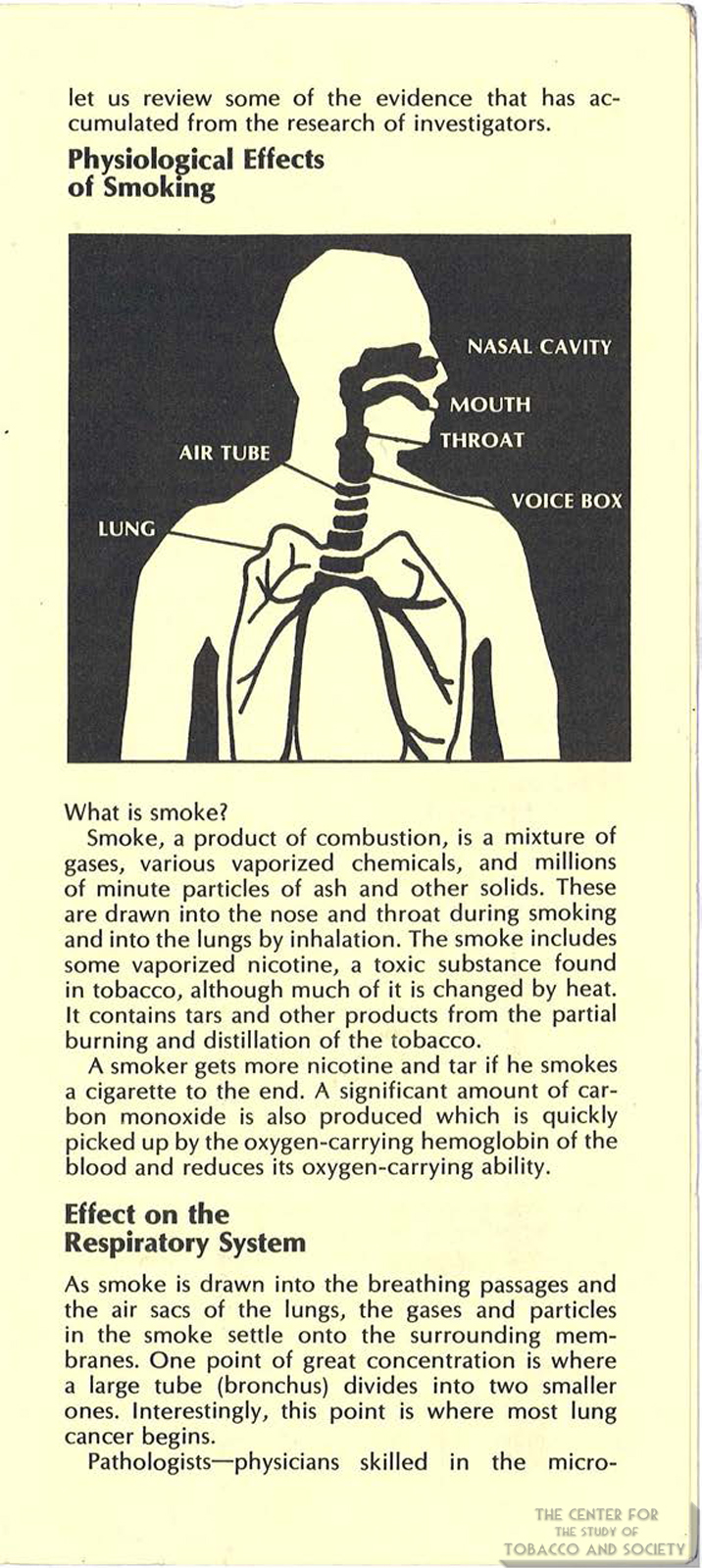 1971 AMA Brochure Smoking Facts You Should Know Page 3