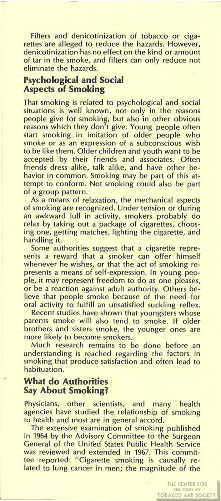 1971 AMA Brochure Smoking Facts You Should Know Page 5