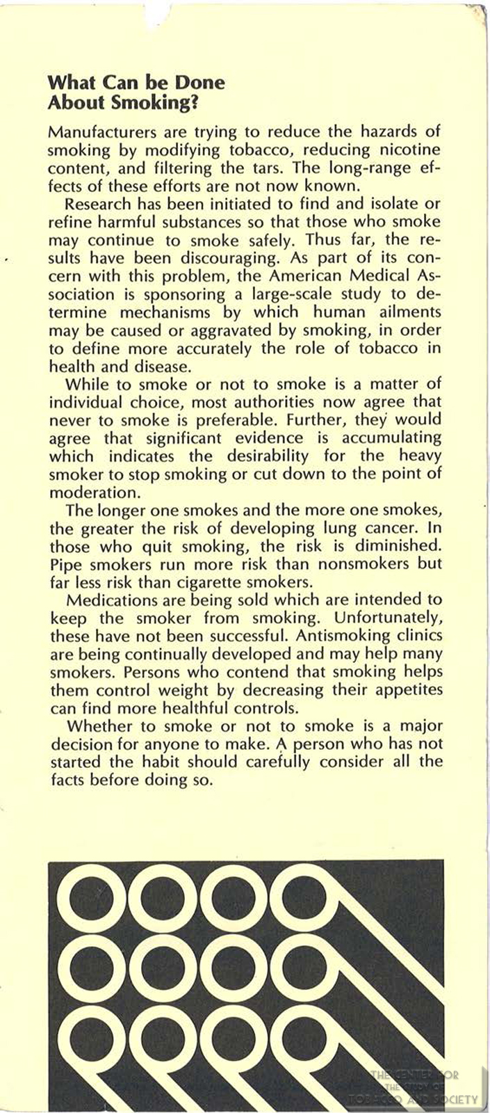 1971 AMA Brochure Smoking Facts You Should Know Page 7