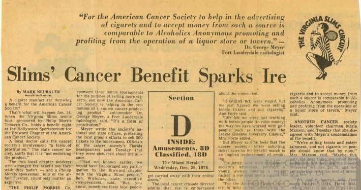 1976 12 29 Miami Herald Slims Cancer Benefit Sparks Ire color
