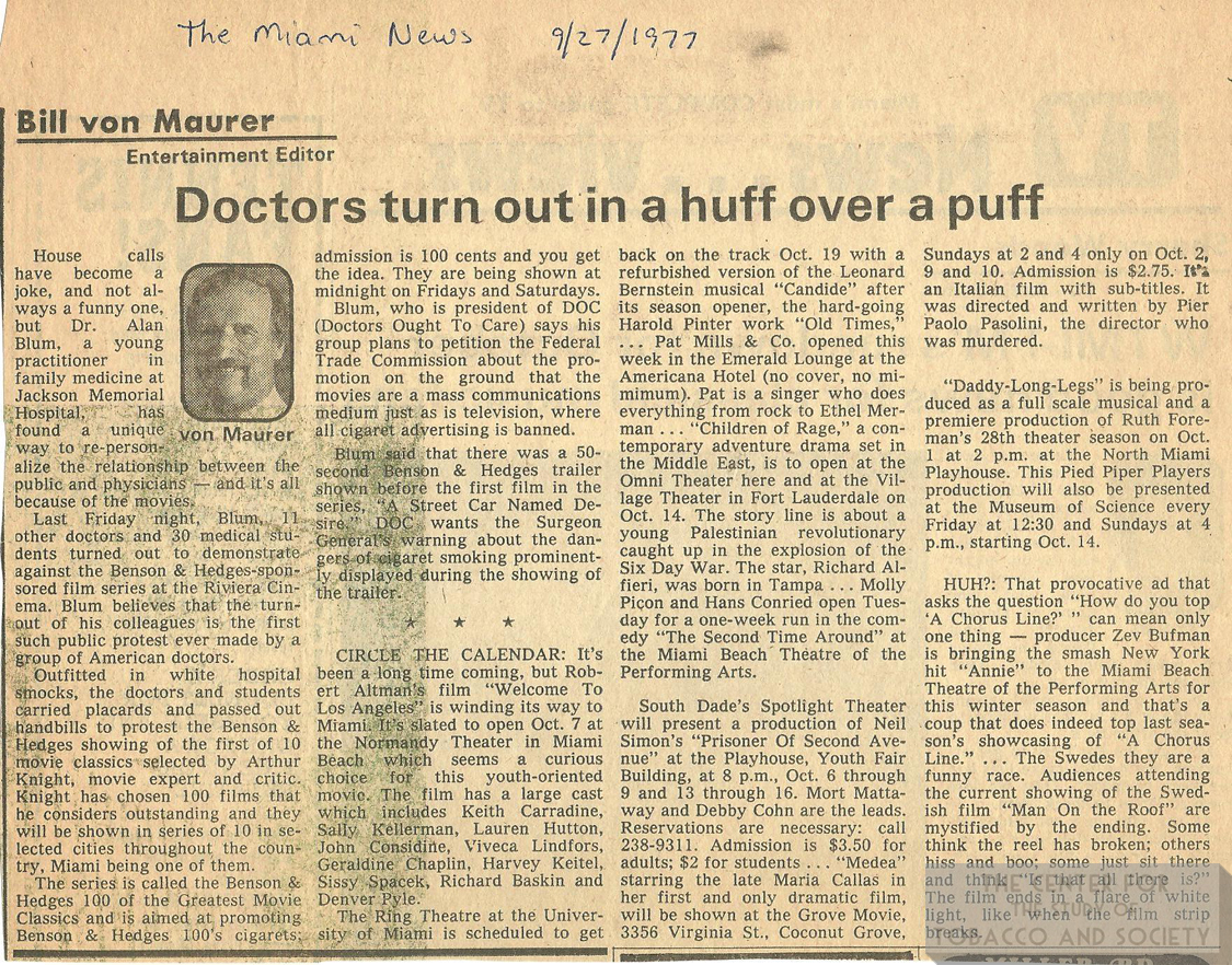 1977 09 27 Miami News Drs Turn Out in a Huff color