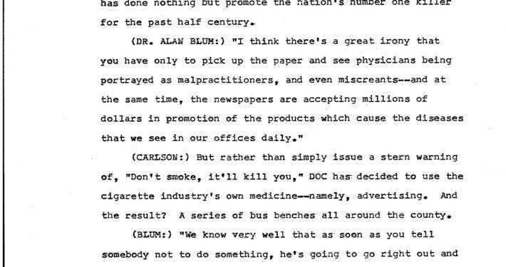1977 10 21 WPLG TV Transcript An Avant Garde Group of Drs