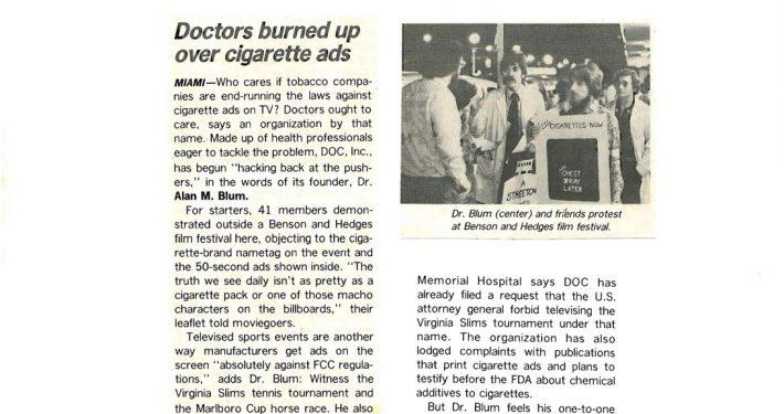1977 11 28 Medical World News Drs Burned Up Over Cig Ads